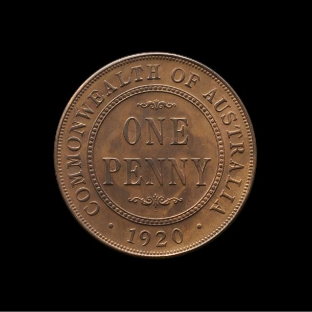 1920 Melbourne Mint Proof Penny FDC reverse tech February 2019