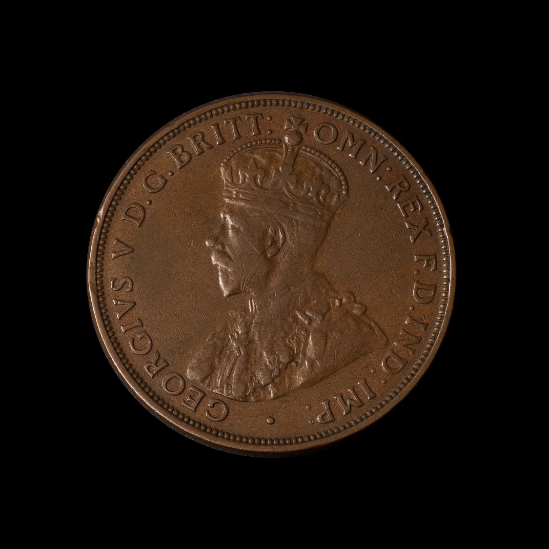1930 Penny Very Fine obverse tech February 2019