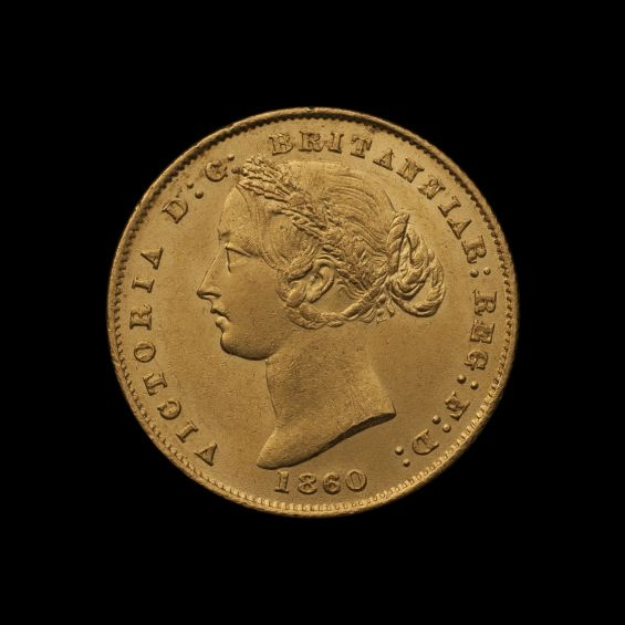 1860 Sydney Mint Sovereign Ch Unc Obv tech February 2019