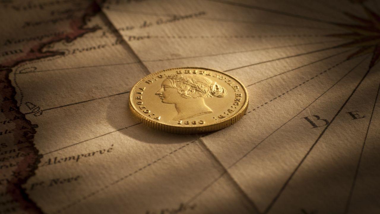 1860 Sydney Mint Sovereign Choice Unc Obverse February 2019