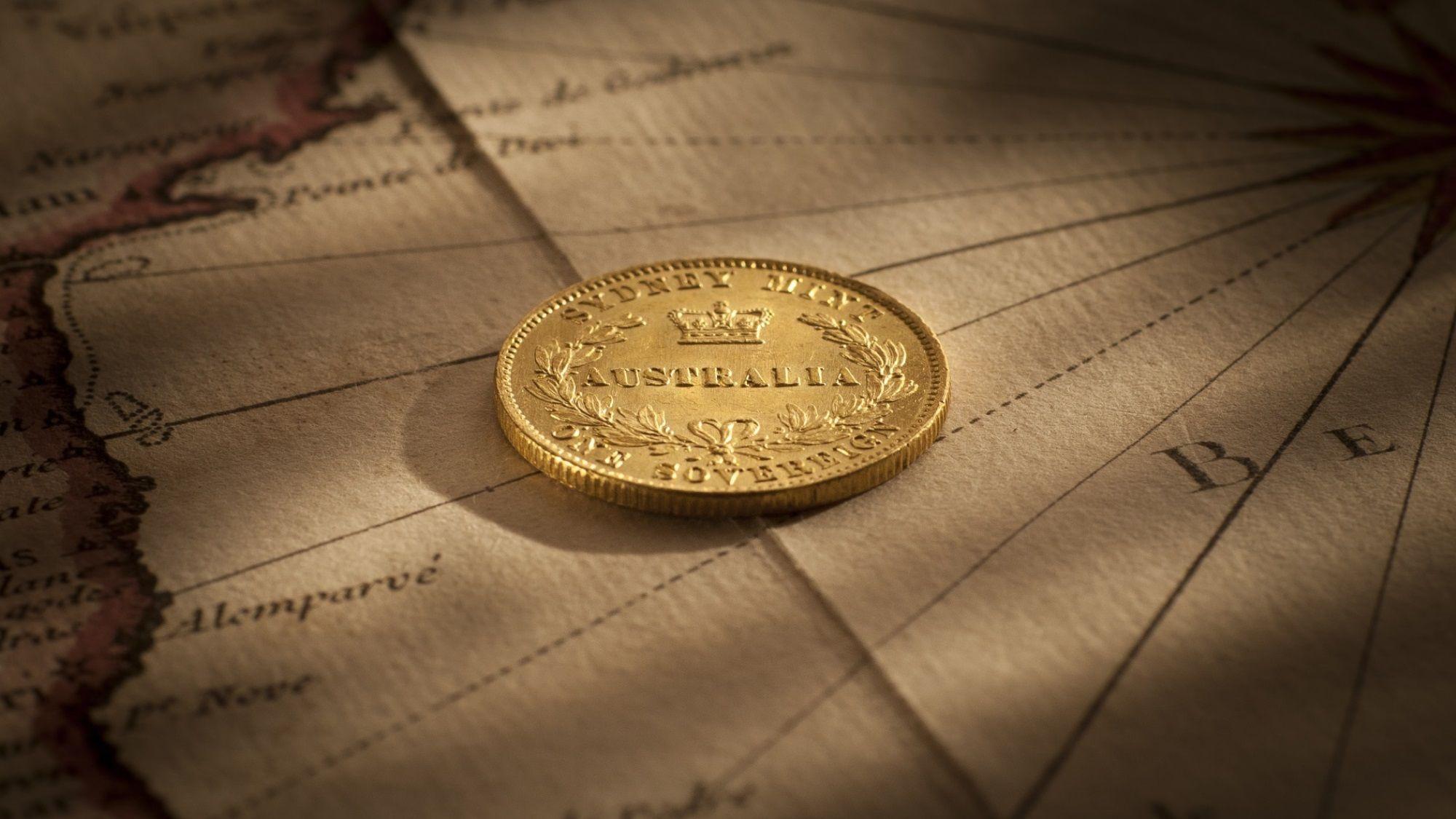 1860 Sydney Mint Sovereign Choice Unc Reverse February 2019