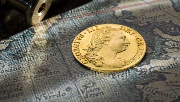1774 Gold Proof Guinea - FDC head