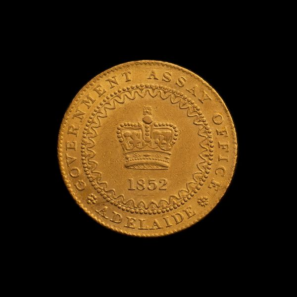 1852-Adelaide-Pound-Type-II-aEF-Obv-TECH-July-2020