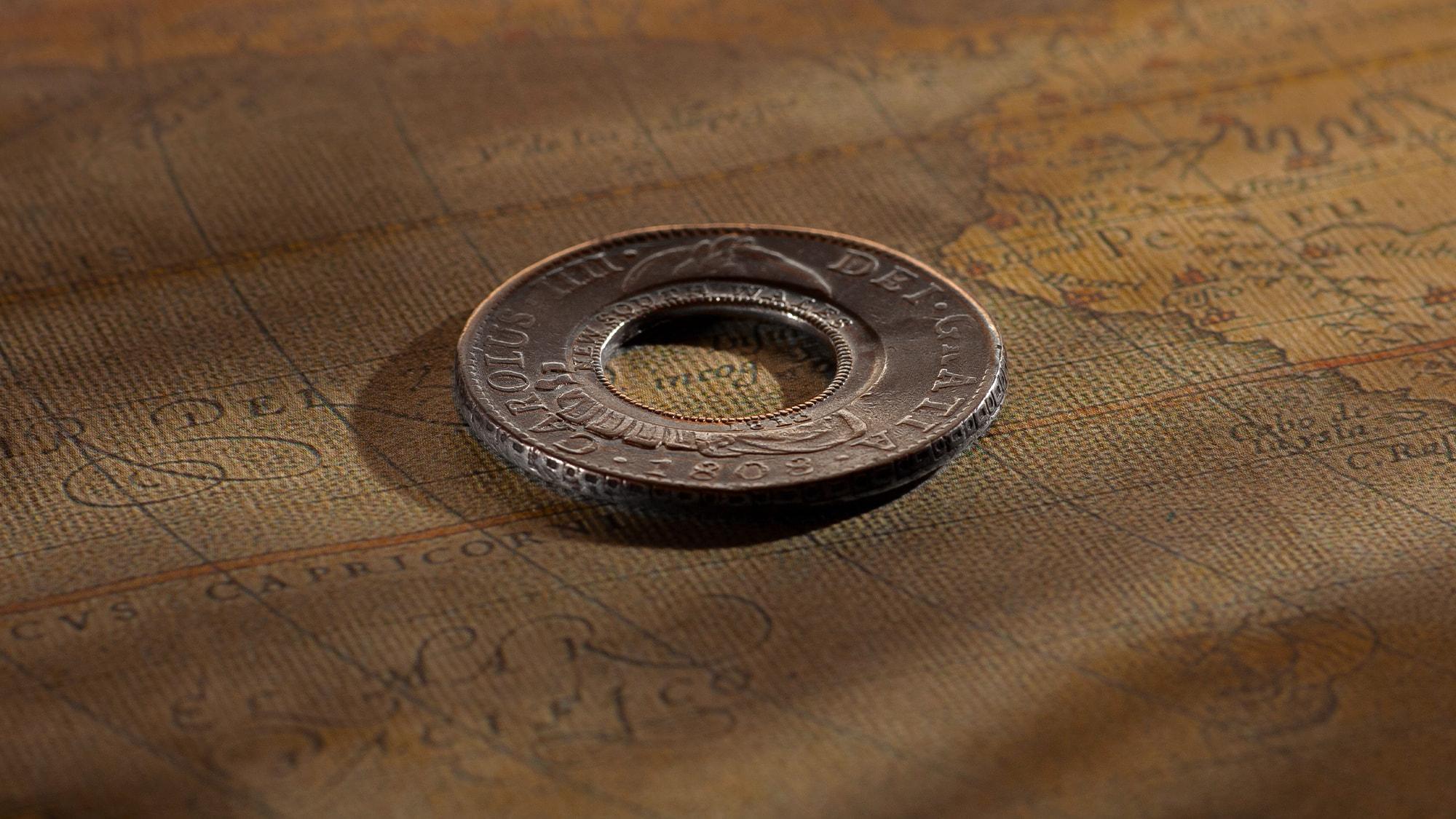 1808-Holey-Dollar-Mexico-Mint-OBV-gVF-aEF