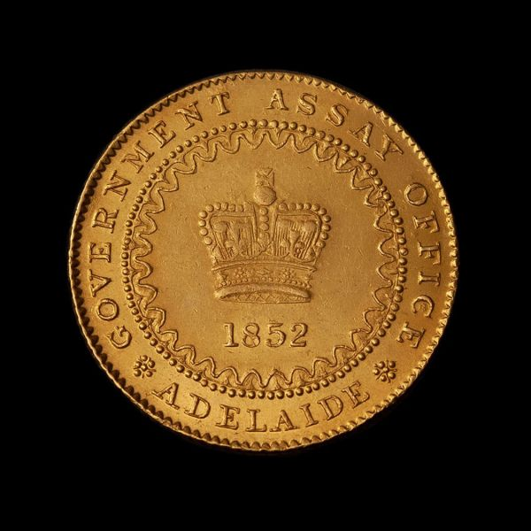 1852-Adelaide-Pound-Cracked-Die-About-Unc-TECH-Obv-November-2020