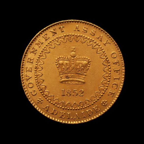 1852-Adelaide-Pound-cracked-die-EF-TECH-rev-November-2020
