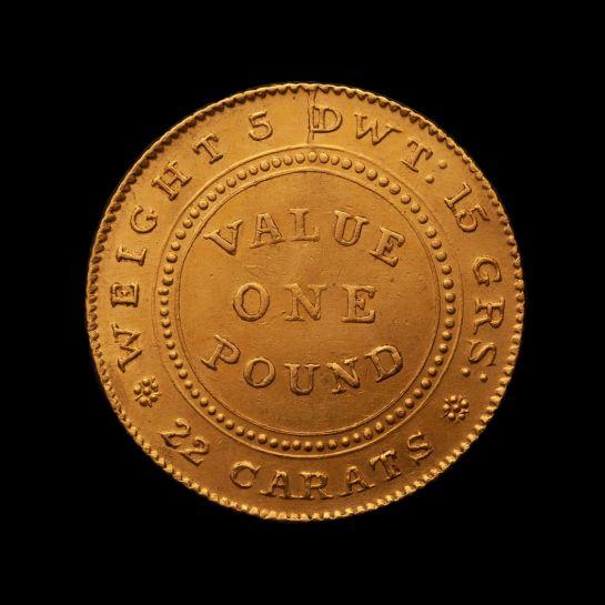 1852-Adelaide-Pound-cracked-die-EF-TECH-obv-November-2020