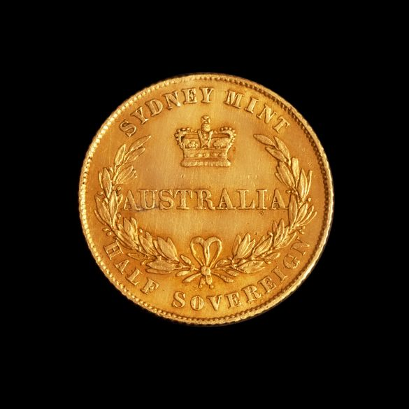 1855-Sydney-Mint-Half-Sovereign-Rev-EF-TECH-January-2021