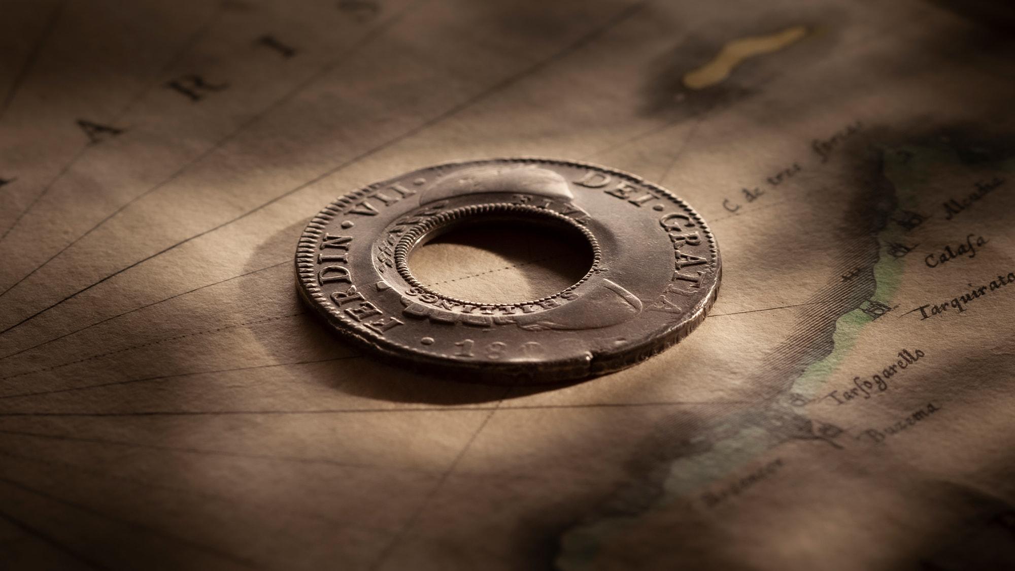 1813-Holey-Dollar-OBV-1809-Ferdinand-VI-36314-February-2021