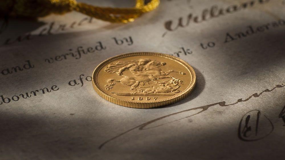 1897 Sydney Mint Half Sovereign Gem Unc rev 161205-578