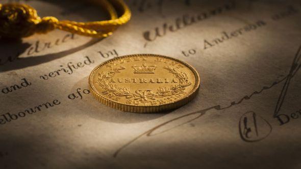 1855 Sydney Mint Sovereign rev Extra Fine 161205-428