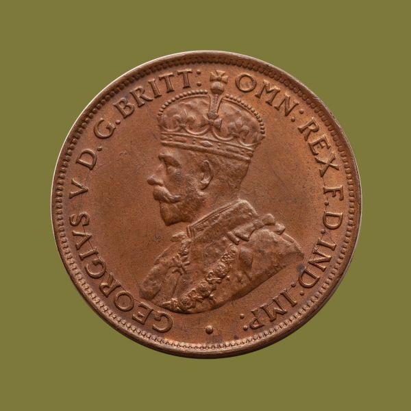 1923-Halfpenny-chUNC-obv-36525-July-2021
