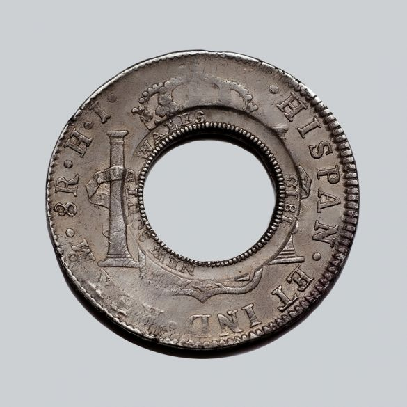 1813-Holey-Dollar-EF-Ferdinand-VI-1809-Mexico-OBV-TECH-40760-July-2021