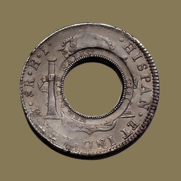 1813-Holey-Dollar-EF-Ferdinand-VI-1809-Mexico-OBV-2-TECH-40760-July-2021