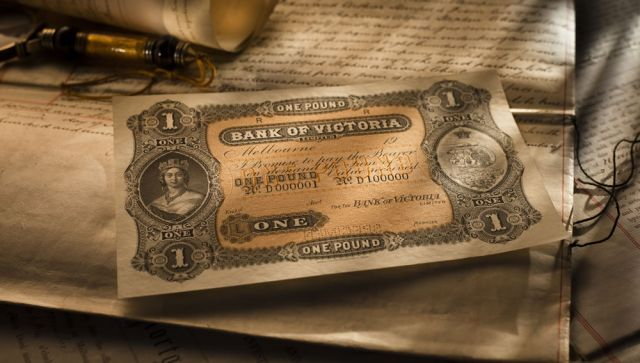 Bank of Victoria Ltd One Pound Circa 1900