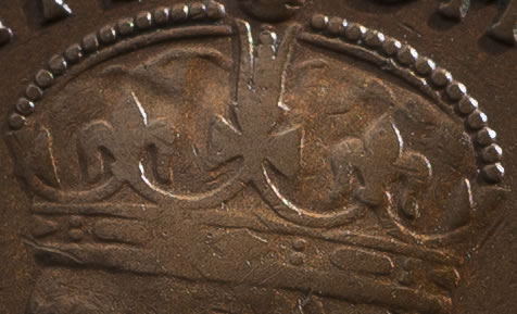 1930 Penny Crown up close