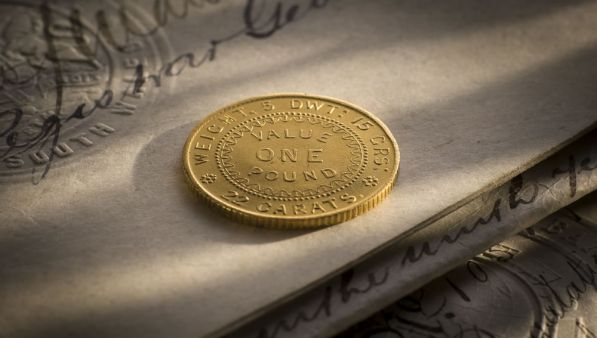 1852 Adelaide Pound Second Die