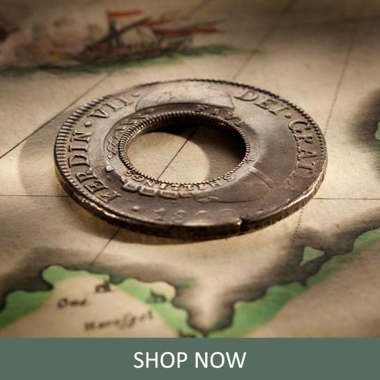 SEO-1813-Holey-Dollar-EF-Ferdinand-VII-1809-Mexico-Mint-Silver-Dollar-Rev-42724-October-2021