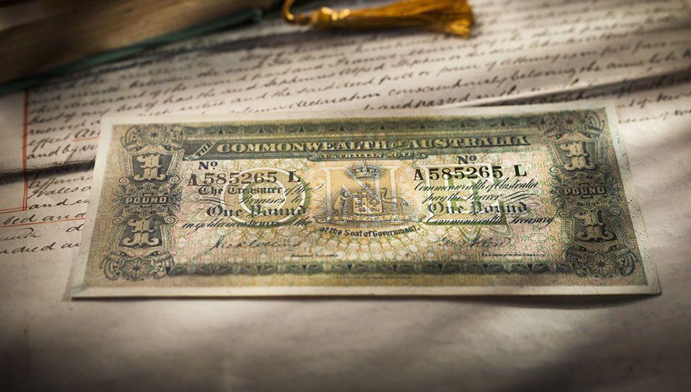 1916 Collins Allen One Pound (R18e)