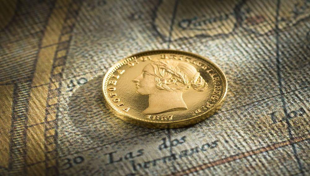 1857 Sydney Mint Proof Half Sovereign head side