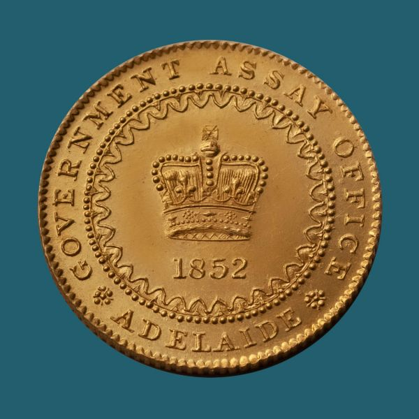 1852-Adelaide-Pound-Gem-2-Unc-Obv-TECH-40908-October-2021